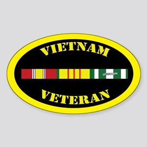 Vietnam Veteran Sticker (Oval)